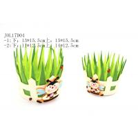Wholesale with bee felt grass shape basket JOL17D04 from china suppliers