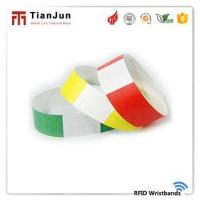13.56mhz Iso14443a Printing Different Size Cheap Paper Rfid Wristband For Hospital/ Park Manufactures