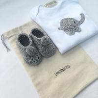Wholesale Baby vest and pram shoe gift set - Gooseberry Fool from china suppliers