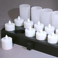 Buy cheap Quality Rechargeable Tea Candle Set Flickering White Flame from wholesalers