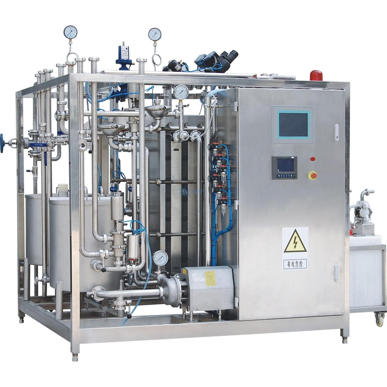 High quality plate type UHT sterilizer for milk or beverage Manufactures