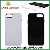 Sublimation blanks Sublimation rubber and plastic 2 in 1 phone case