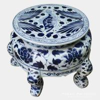 Buy cheap RYWE04_Four feet blue and white porcelain hand paint fish and water weed pattern ottoman from wholesalers