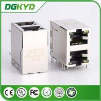 Buy cheap KRJ -2013GYNL 100 Base - T 2 Port RJ45 , Stacked Right Angle RJ45 Dip Mount from wholesalers