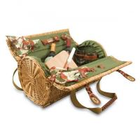 Buy cheap Picnic Time Verona Willow Wicker Shoulder Bag Picnic Basket, Pine Green from wholesalers