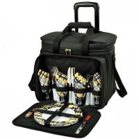Buy cheap Picnic at Ascot Deluxe Picnic Cooler w/Wheels for 4 -Black/Paris from wholesalers