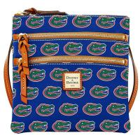 Buy cheap Women's Dooney & Bourke Royal Florida Gators Triple-Zip Crossbody Purse from wholesalers