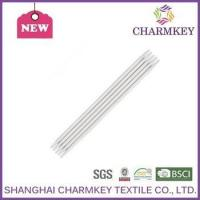 Wholesale pure white plastic knitting needles for fancy knitting