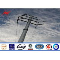 Buy cheap 3mm Thickness Overhead Line Steel Power Poles 35FT Transmission Line Poles from wholesalers