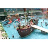 Buy cheap OEM Pirate Ship Kids water slide playground for Park Play Equipment with Water Spray from wholesalers