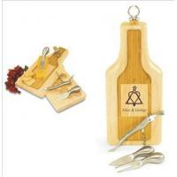 Buy cheap Cheese & Cutting Boards Engraved Wooden Cheese Board Wine Bottle Shaped-Silhouette from wholesalers