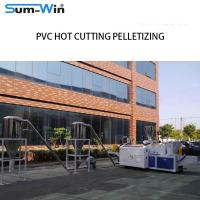 China PELLETING AND RECYCLING LINE PVC HOT CUTTING PELLETIZING on sale