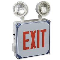 Buy cheap Big Beam Wet Location LED Exit Sign with Emrgency Lights from wholesalers
