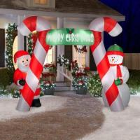 Buy cheap Inflatable candy canes arch with banner Christmas decoration with LED from wholesalers