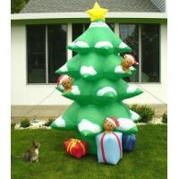 Buy cheap Inflatable Christmas tree with led lights and star inflatable Christmas decoration gift from wholesalers
