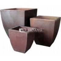 Buy cheap Vietnam Black Clay Curved Square Pot from wholesalers