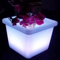 Buy cheap Cubic Square Flashing Led Flower Pot from wholesalers