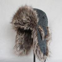 Buy cheap Gloves & Mittens HT-0022 Grey Imitate Rabbit Hair Silk Knitting/Faux Fur Trapper Hat from wholesalers
