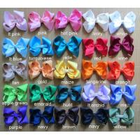 Buy cheap 100 pcs 4 inch baby boutique hair bows - 25 colors to pick from wholesalers