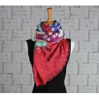 Buy cheap wool and silk scarves Screen Printing Silk Wool Scarf from wholesalers