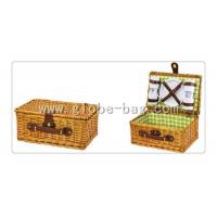 Wholesale Outdoor wicker picnic basket for 4 person from china suppliers