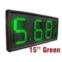 Buy cheap 15 inch waterproof single color gas station led price sign from wholesalers