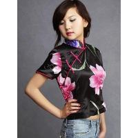 Hot Pink Lily Silk Blouse Manufactures