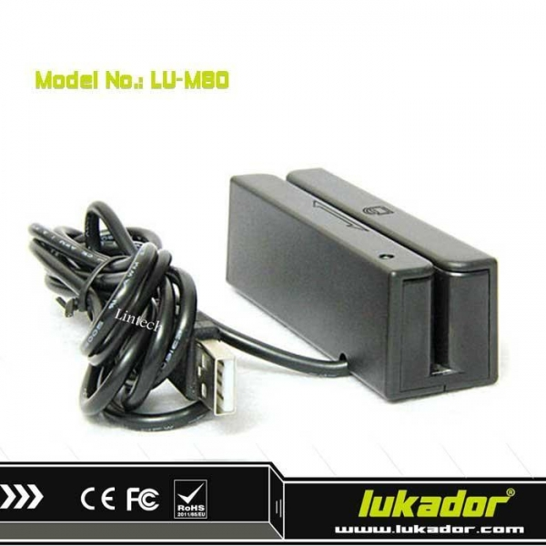 Quality 90mm USB Magnetic Swiper Credit Card Reader for sale