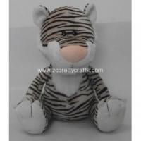 Black and white stripes posture tiger plush toys Manufactures