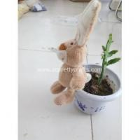 Wholesale Upright ears cream-colored rabbit key chain from china suppliers