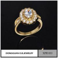 Wholesale Rings Simple Design Wedding Rings, Gemstone Setting Jewelry, Romantic Gold Ring from china suppliers