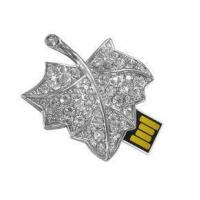 Buy cheap Maple Leaf Shape Jewelry USB Flash Drive, Encrypted USB Memory Stick Storage Device from wholesalers