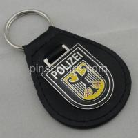 Buy cheap Iron Personalized Leather Keychains from wholesalers