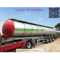 Wholesale 3 axles pitch tanker semi trailer from china suppliers