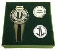 Buy cheap Christmas-Top 15 Gifts Personalized Divot Tool and Hat Clip Golf Ball Marker Set from wholesalers