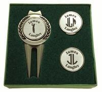 Buy cheap Christmas Decor Personalized Divot Tool and Hat Clip Golf Ball Marker Set from wholesalers