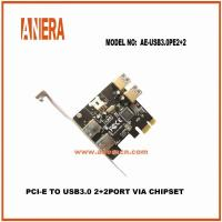 Buy cheap Type C CABLES PCI-E TO USB3.0 2+2Port Card AE-USB3.0PE2+2 from wholesalers