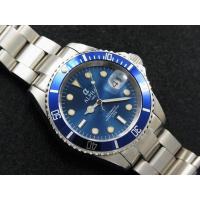 Buy cheap ALPHA SUBMARINER IRON BLUE DIAL SAPPHIRE CRYSTAL AUTOMATIC MANS WATCH MIYOTA JAPAN MOVEMENT from wholesalers