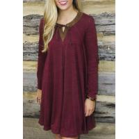 Buy cheap Chic Lace-up Front Paneled Dress product