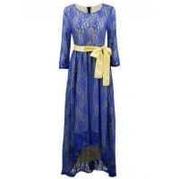 Women's 3/4 Sleeve Lace High Low Evening Party Dress