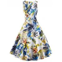 Wholesale Women's Vintage Style Graphic A-line Dress from china suppliers