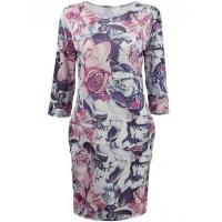 Wholesale Women's Fashion 3/4 Sleeve Floral Print Bodycon Dress from china suppliers