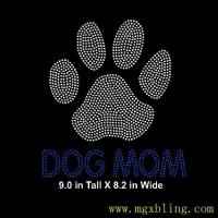Buy cheap 2016 Wholesale Hot Fix Lovely Dog Mom Crystal Rhinestone Motif Custom For Your Shirts from wholesalers