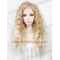Buy cheap Drag Queens Wig Two Tone Long 26 Inch Small Curly Hair Synthetic Lace Wig (CWN18C27HR/1001) from wholesalers
