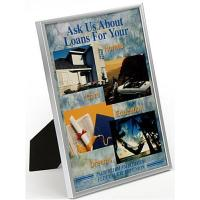 Buy cheap 8.5 x 11 Plastic Picture Frame for Tabletop or Wall Mount - Silver from wholesalers
