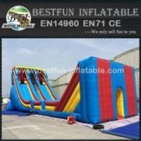 Outdoor giant zip line inflatable slide for children and adults Manufactures