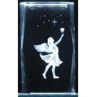 """Wholesale 3"""" 3D Laser Crystal Cube - Angel & Heart from china suppliers"""