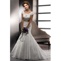 Buy cheap Wedding Dresses Scoop Trumpet Lace Wedding With from wholesalers