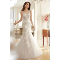 Wholesale Court Train Applique Beads Scoop 2015 Wedding Dress from china suppliers
