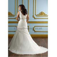 Wholesale Satin Wrap Beading Ruched Plus Size Wedding Dress from china suppliers